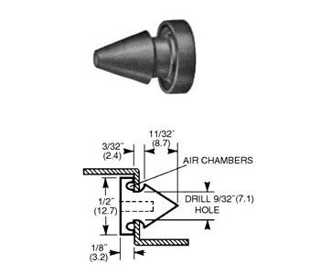 1337A Door Silencer  sc 1 st  Brookline Manufacturing & Brookline Manufacturing | 1337A
